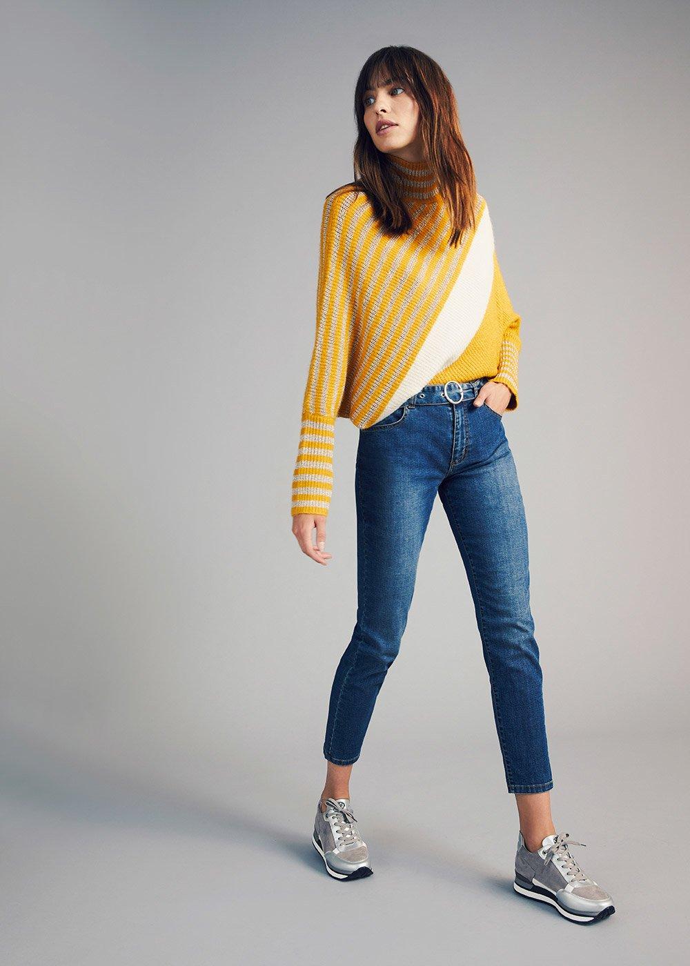 Kate jeans with denim belt - Denim - Woman