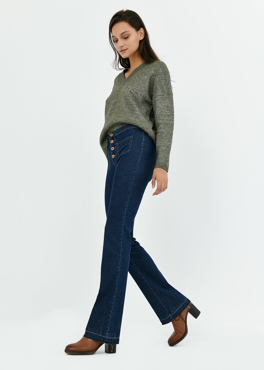 Victoria wide-leg denims - Denim - Woman