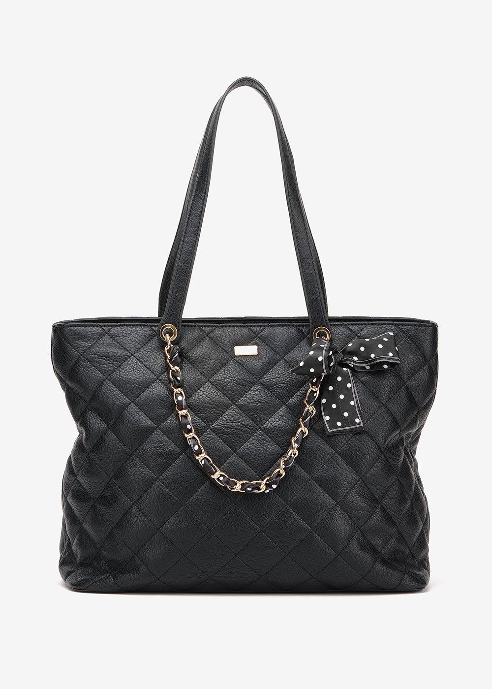 Shopping bag Bree trapuntata - Black - Donna