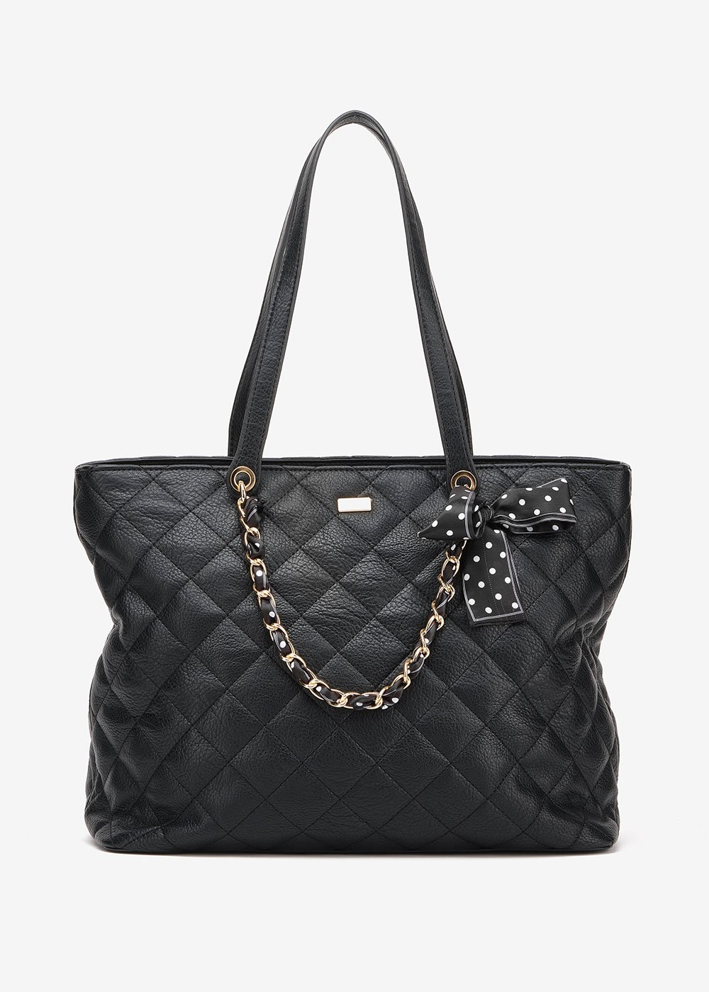 Bree quilted shopping bag - Black - Woman