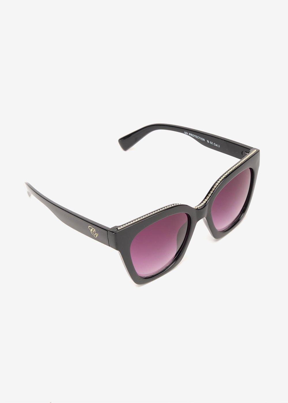 Occhiali da sole modello trapezio - Black - Donna