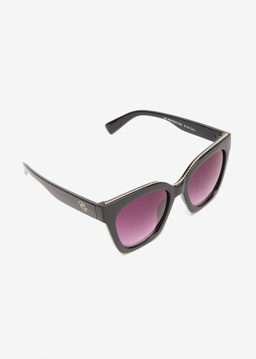 Trapezoid sunglasses - Black - Woman