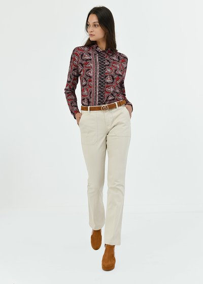 Pantalone Pagor in cotone gamba dritta