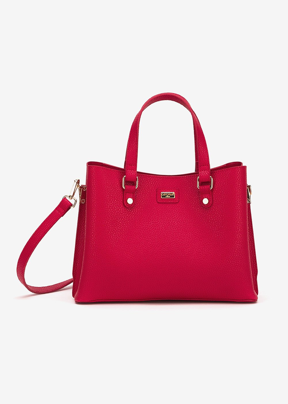 Beckie deer print shoulder bag - Cherry - Woman