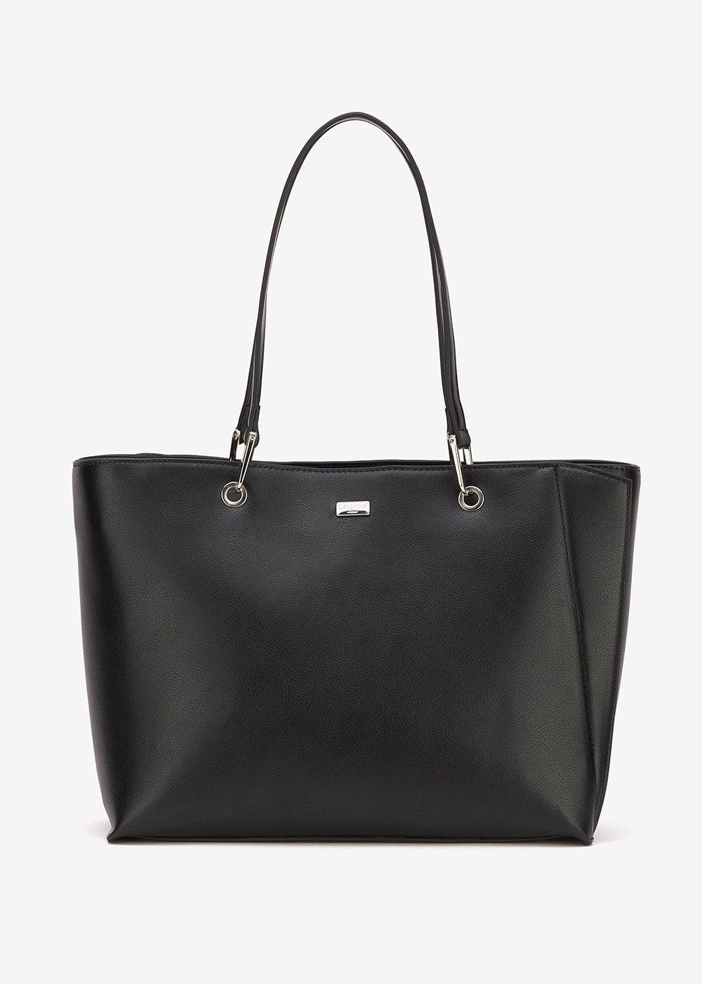 Blunt rigid shopping bag - Black - Woman