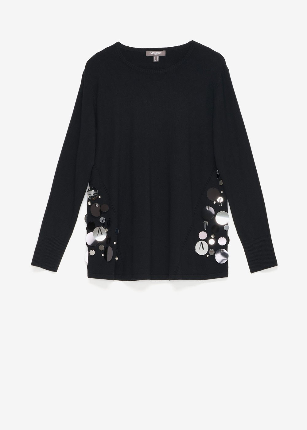 Mara sweater with sequins - Black - Woman