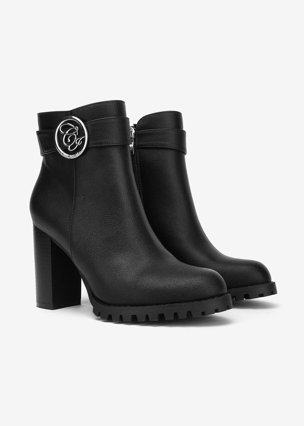 Sher boots with CI buckle - Black - Woman