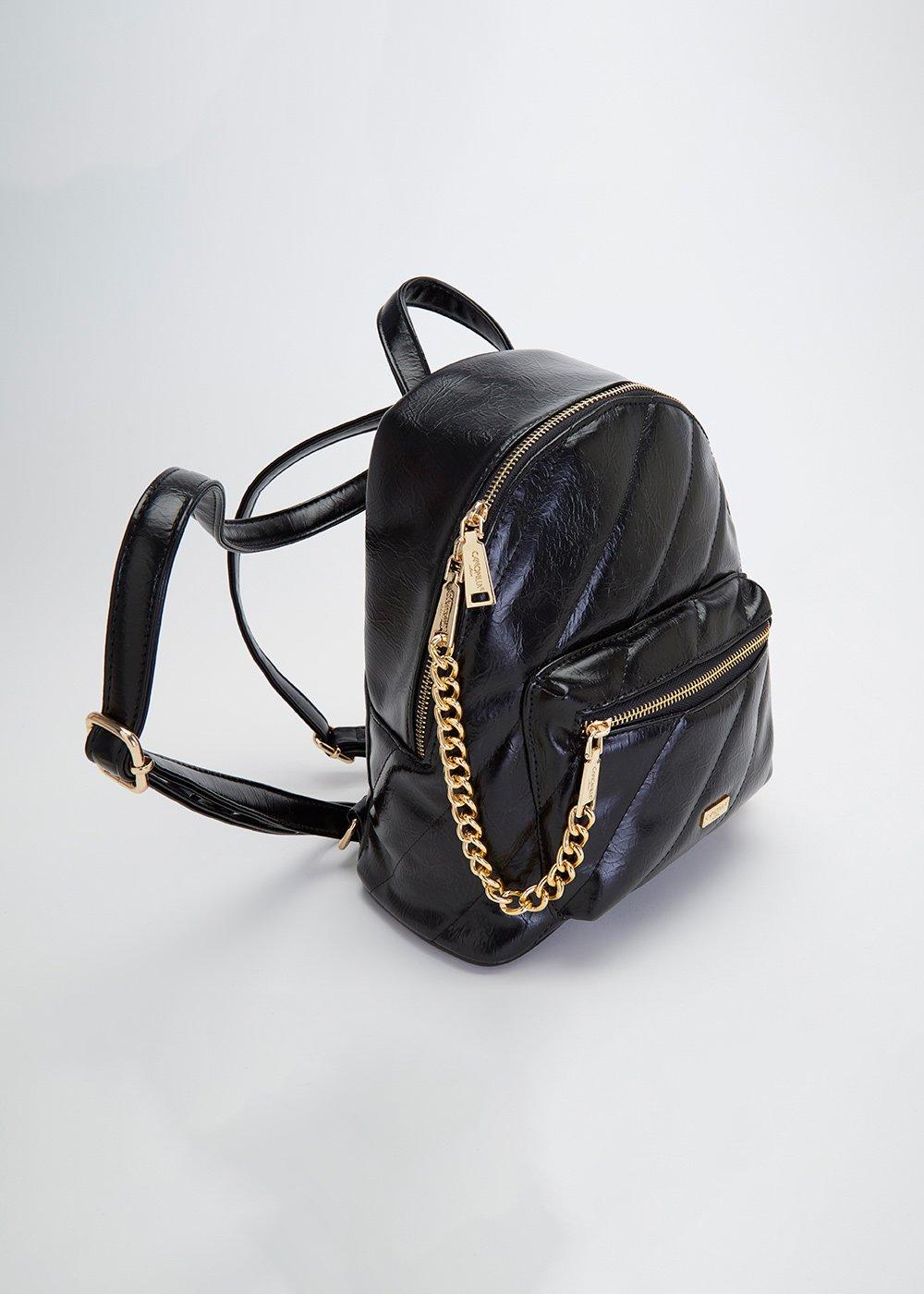 Bonn backpack with cross stripes - Black - Woman