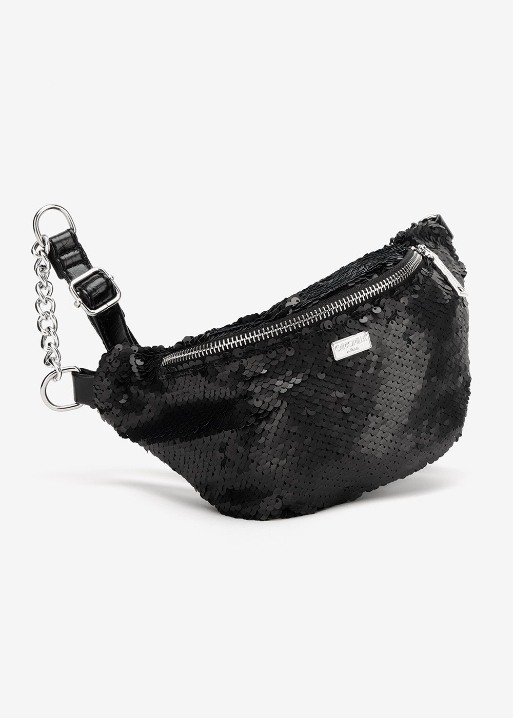 Myrl bumbag with matte sequins - Black - Woman