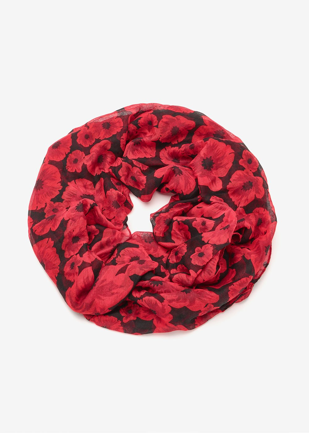 Sharan scarf with micro - flowers - Black Tango Fantasia - Woman