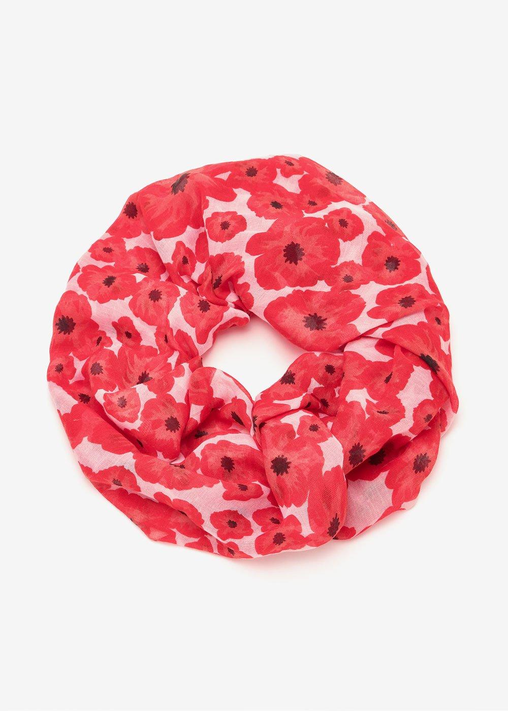 Sybil scarf with micro-flowers - Cipria Tango Fantasia - Woman