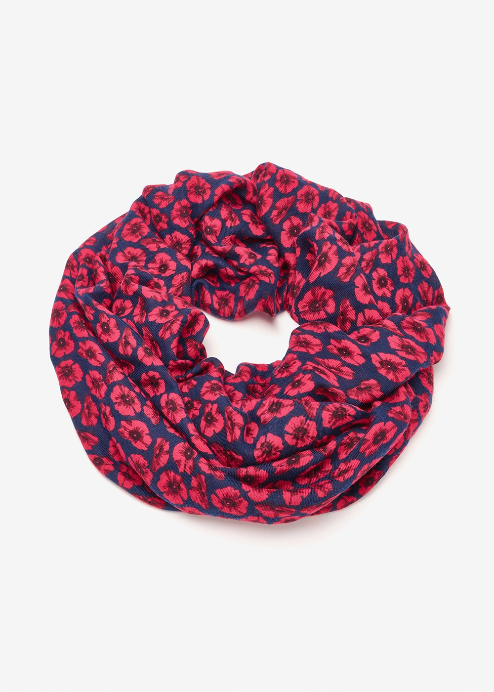 Synke scarf with micro flowers - Oltremare Tango Fantasia - Woman