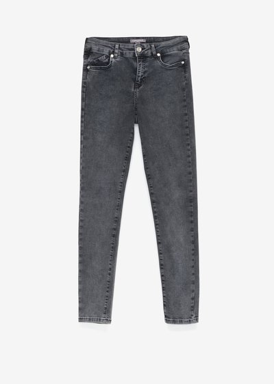 Skinny denims with silver details