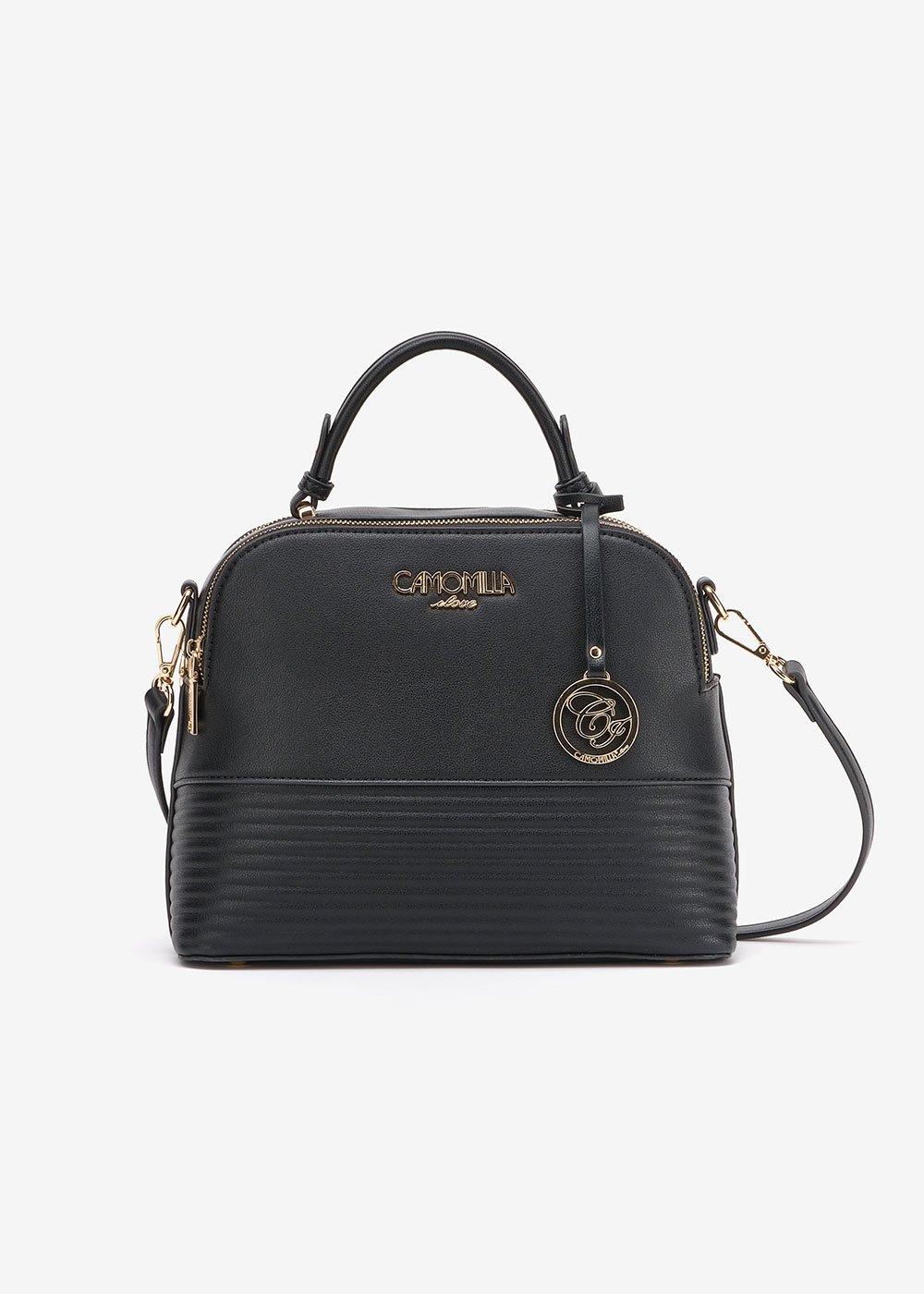 Bryth mini Boston bag with shoulder strap - Black - Woman