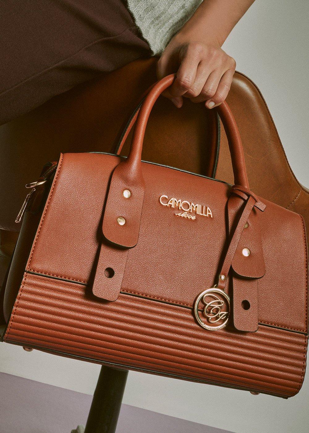 Balyk Boston bag with shoulder strap - Coccio - Woman
