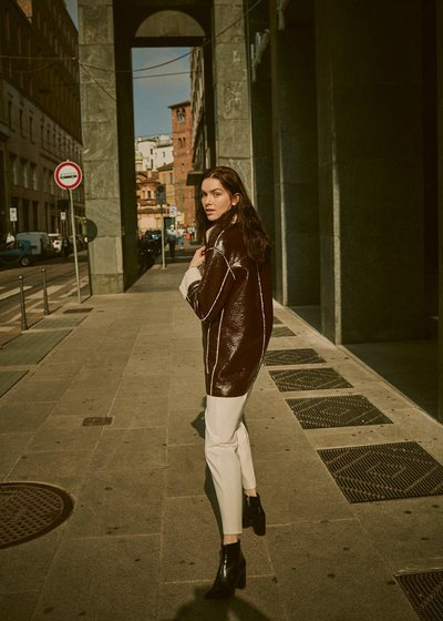 Gyllis patent -leather jacket