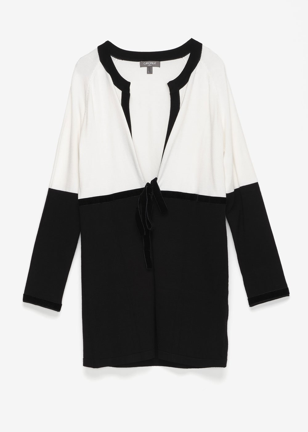 Carl two-tone cardigan - Black / White - Woman