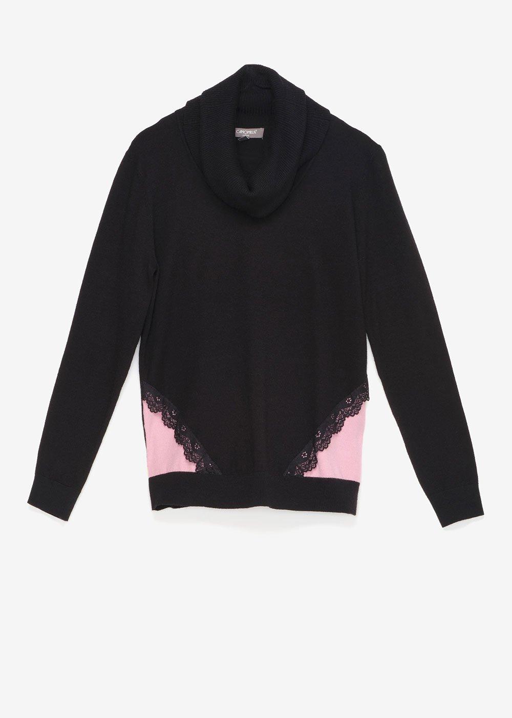 Macy two-tone sweater - Black / Nude - Woman