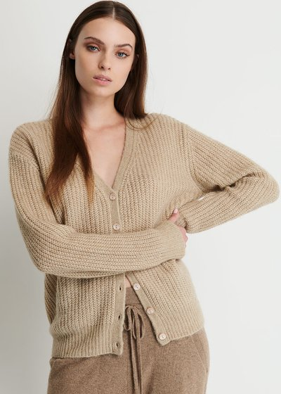 Morena Sweater with V-Neck and Buttons