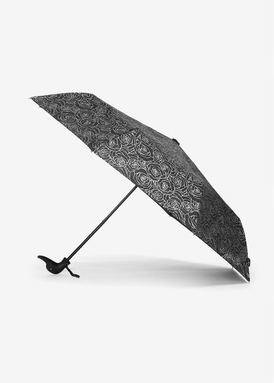 Rose silver print umbrella