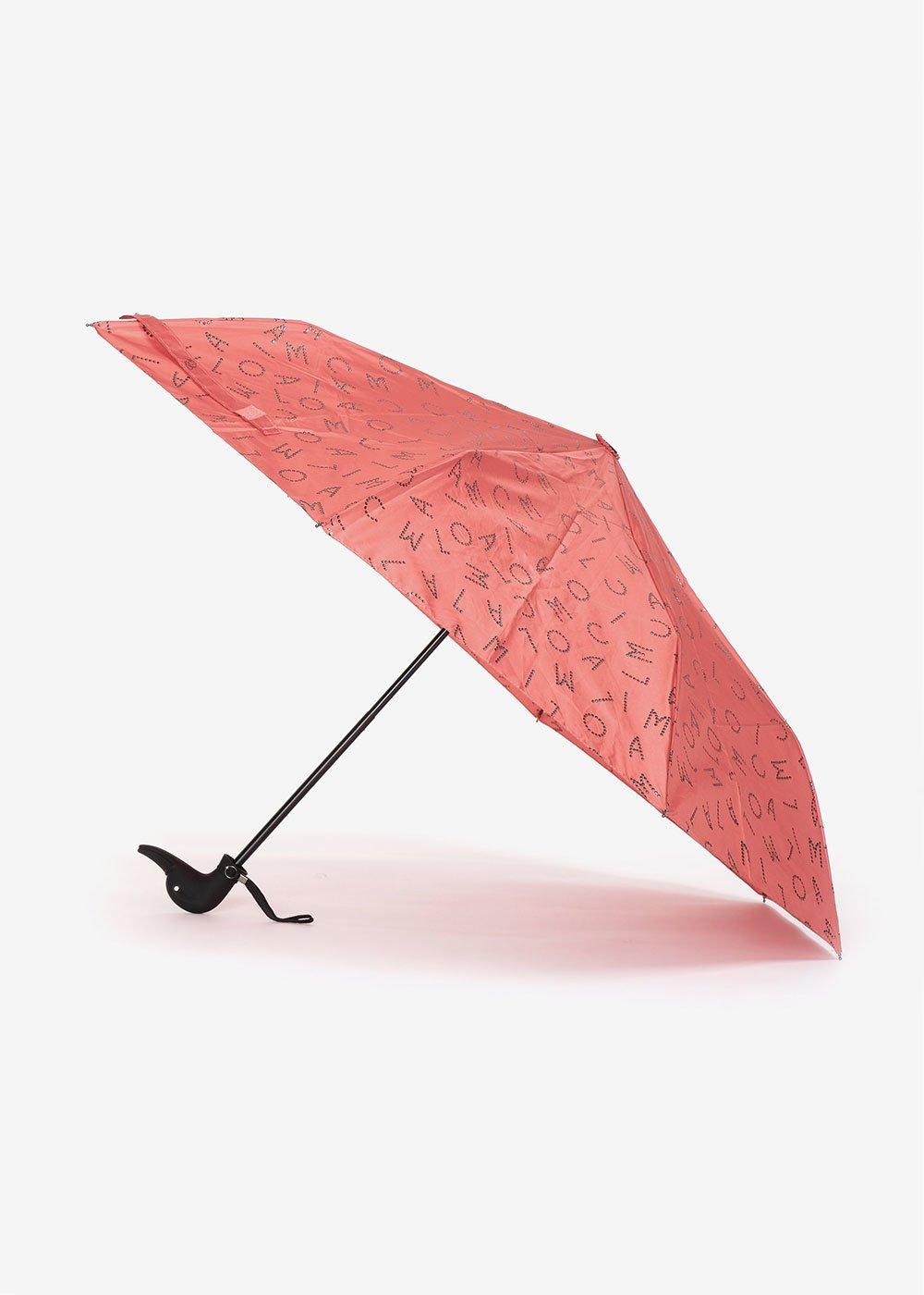 Ombrello logomania glietterata - Rosette / Black - Donna