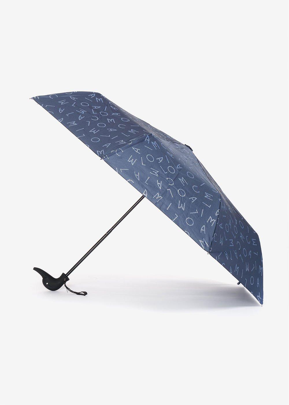Ombrello logomania glietterata - Oltremare / Tempesta - Donna