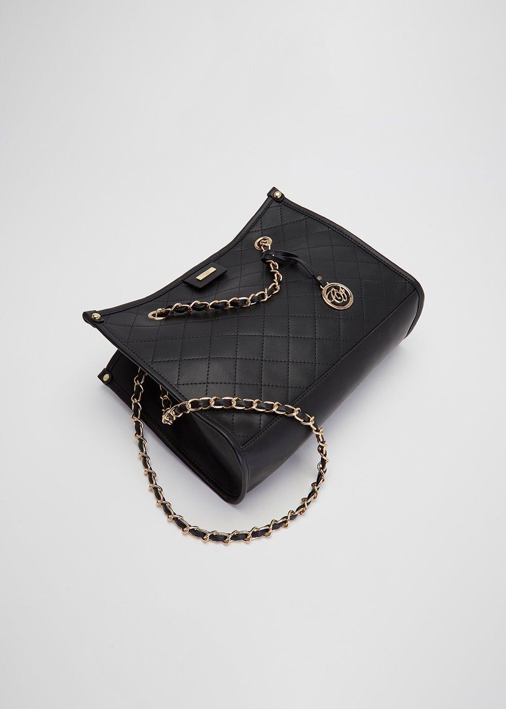 Shopping bag Berta trapuntata - Black - Donna