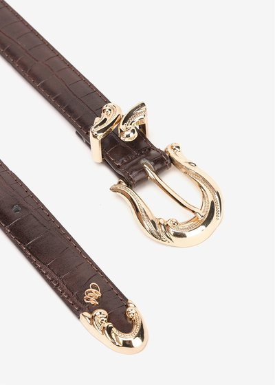 Casy belt with baroque buckle