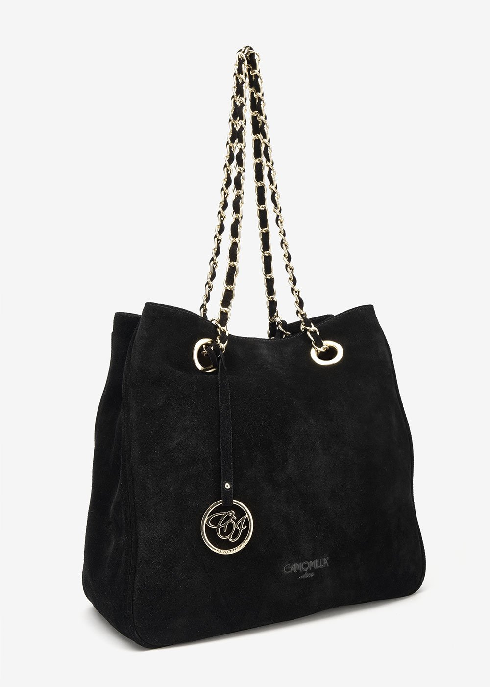 Borsa Brigitte in eco camoscio - Black - Donna
