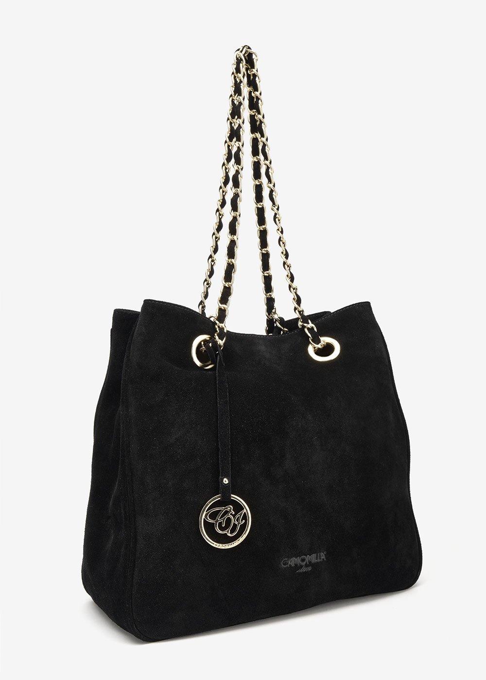 Brigitte faux-suede bag - Black - Woman