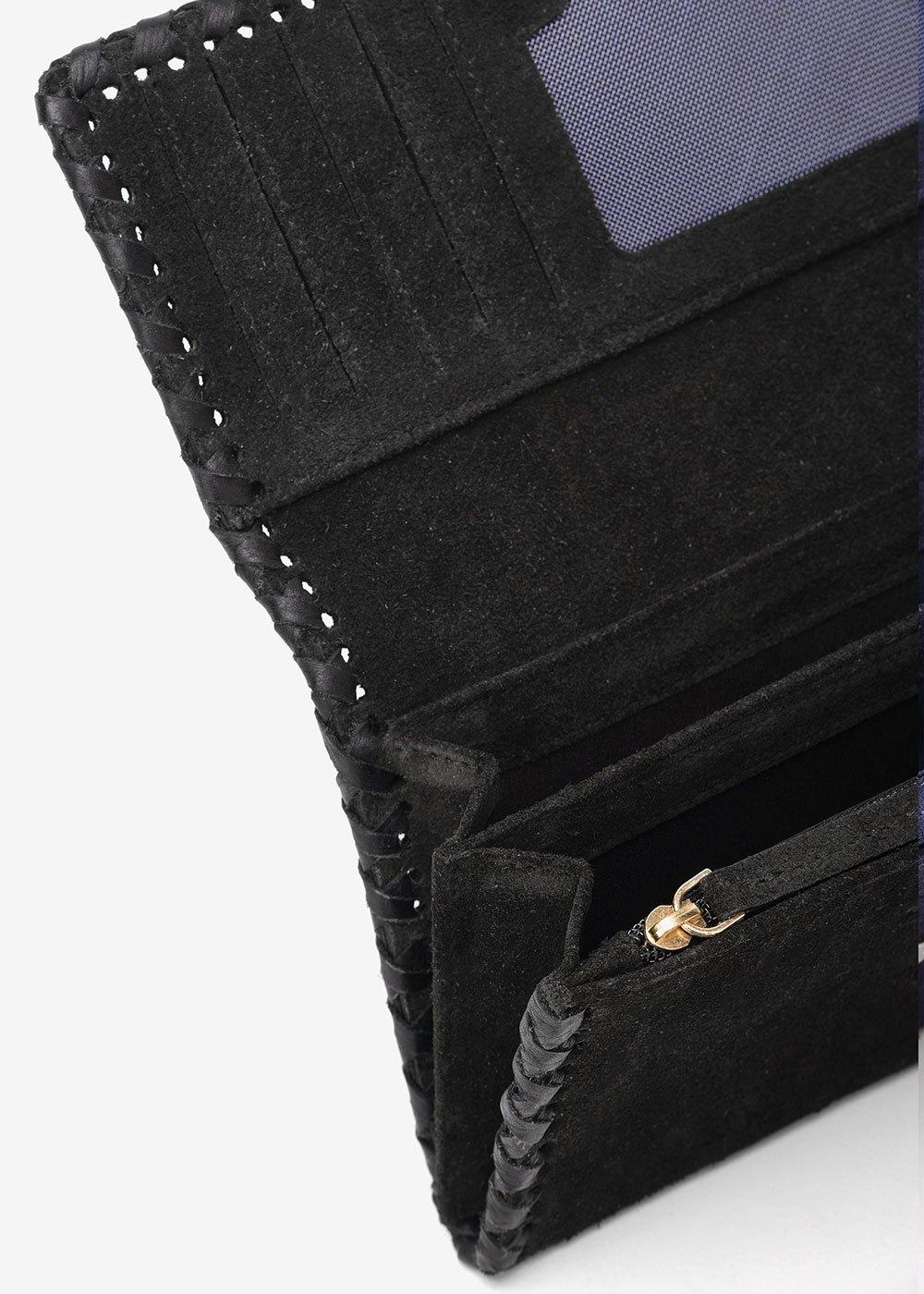 Pablo faux-suede wallet - Black - Woman
