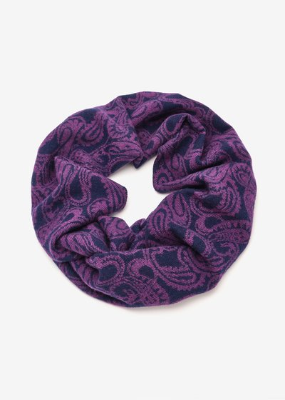 Storm scarf with cashmere print