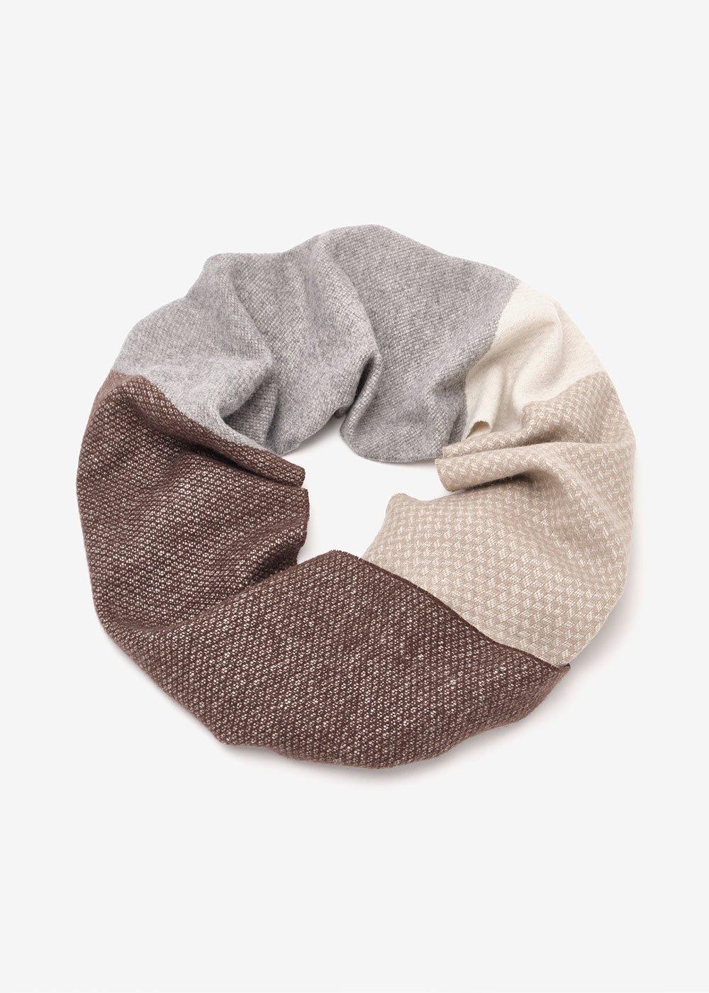 Sylvi patterned scarf - Marrone Desert Fantasia - Woman