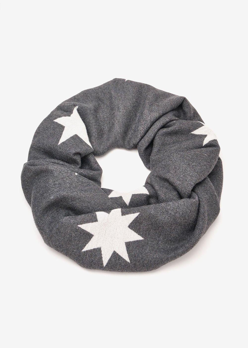 Suellen viscose scarf with stars - Antracite / White Fantasia - Woman
