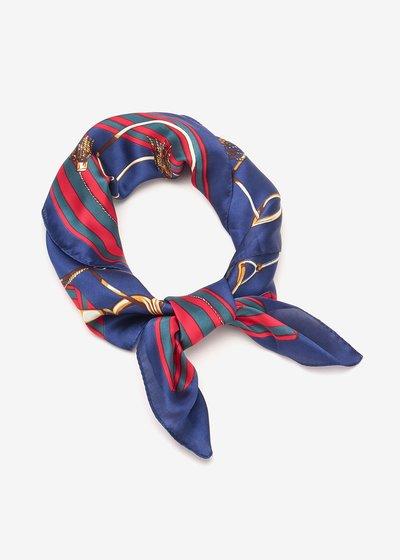 Sherlyn foulard with chain print