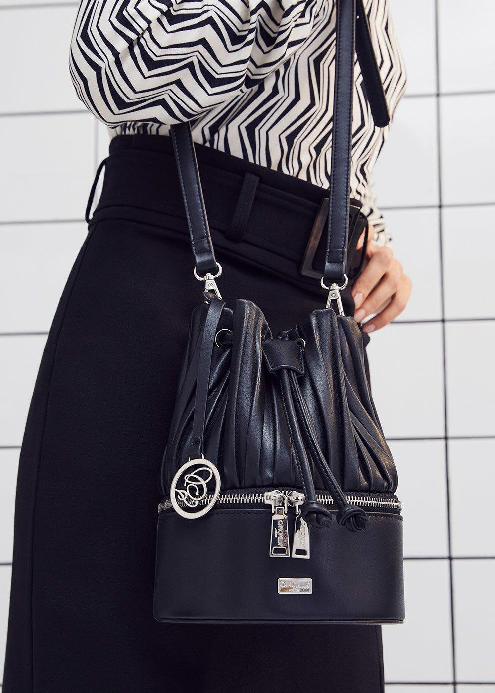 Borsa Bryanna modello secchiello - Black - Donna