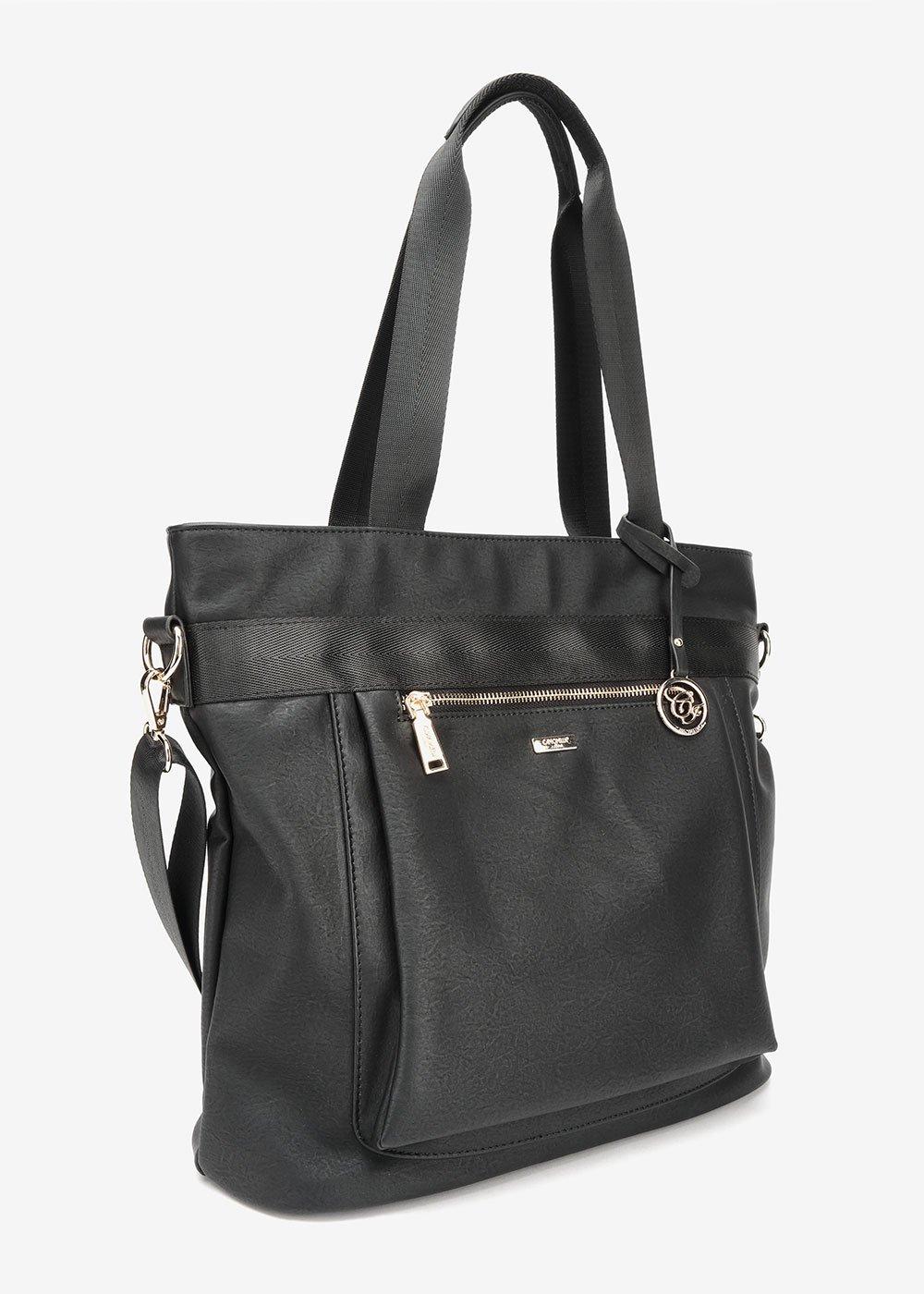 Shopping bag Becky multiscomparto - Black - Donna