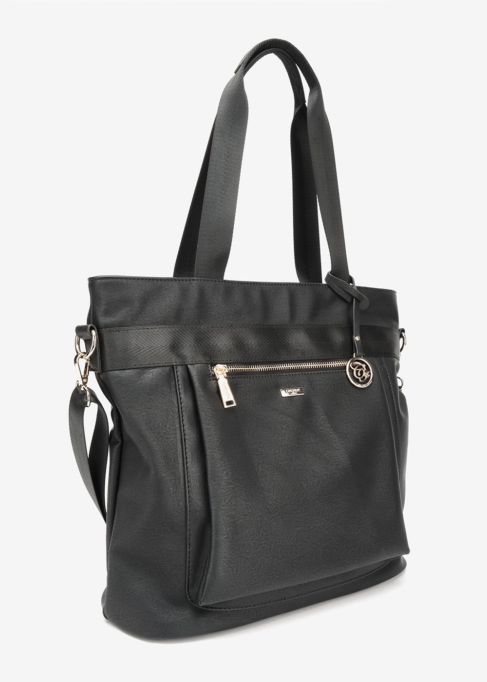 Becky multi-compartment shopping bag - Black - Woman