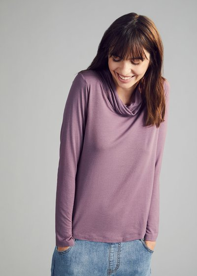 Cowl neck T-shirt