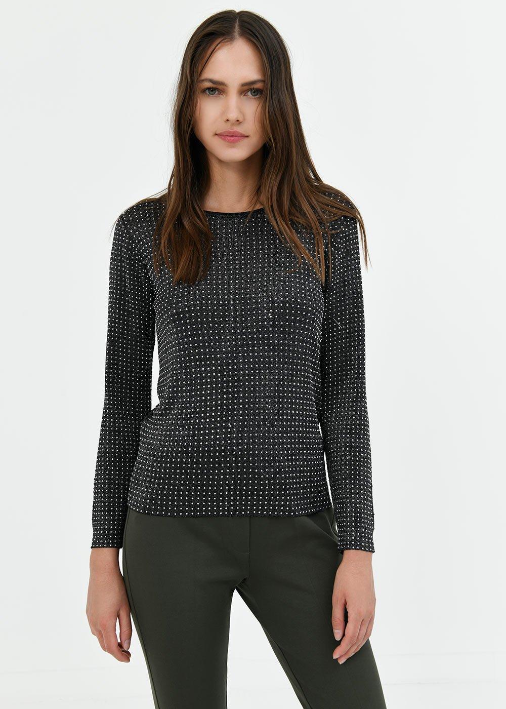 Moira lurex viscose sweater - Black\ Lurex - Woman