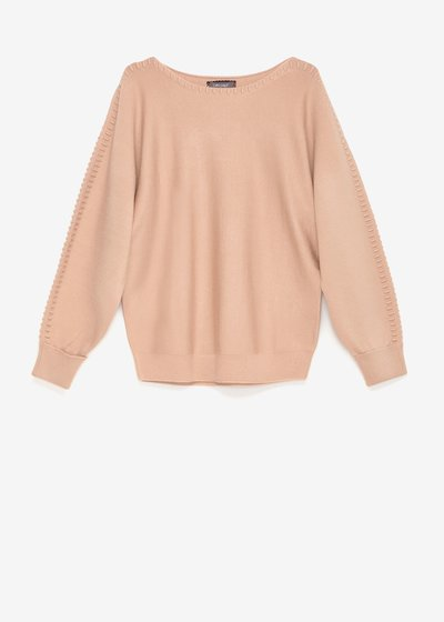 Margaret sweater with threading on the sleeves
