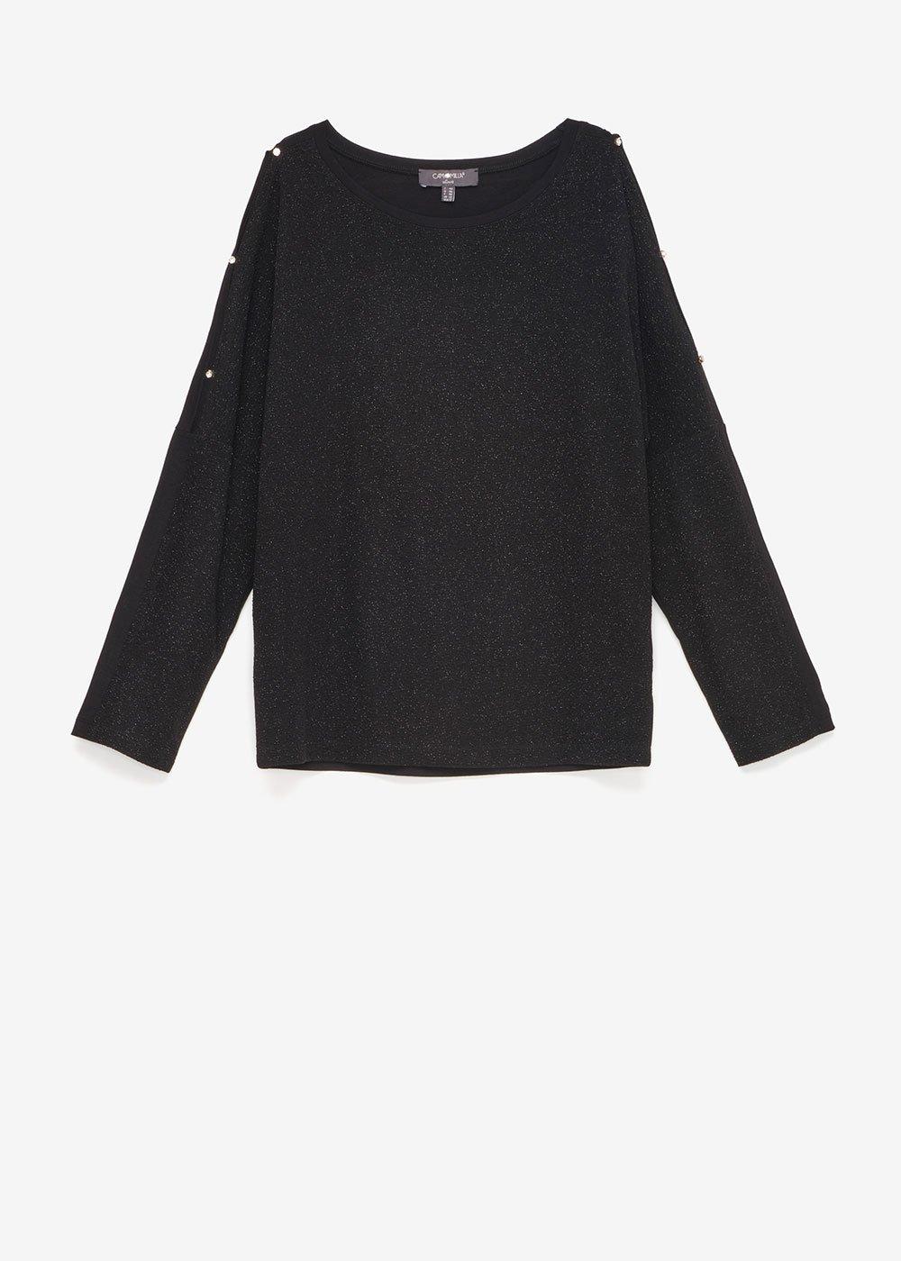 Sammy glitter T-shirt - Black - Woman