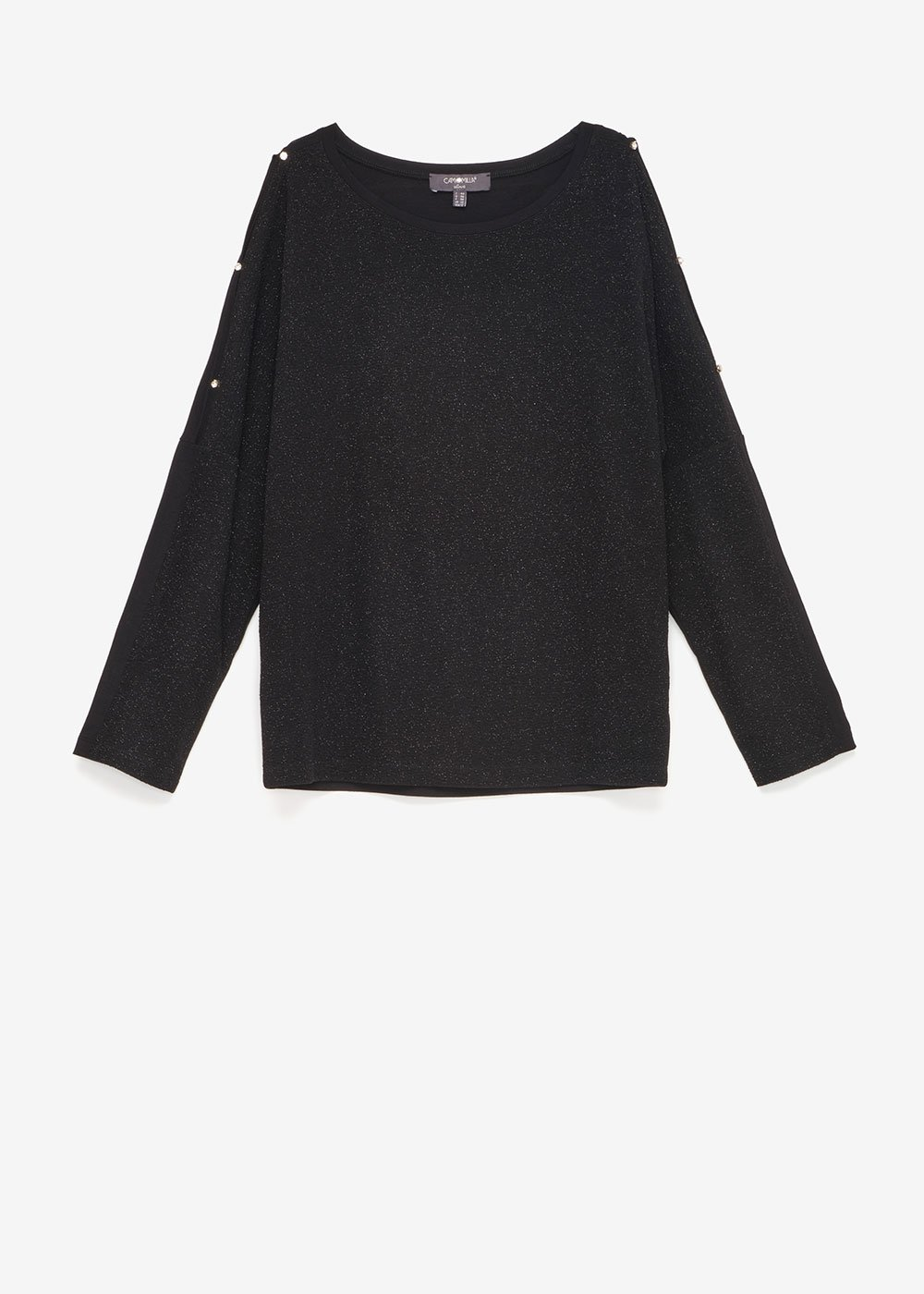 T-shirt Sammy glitterata - Black - Donna
