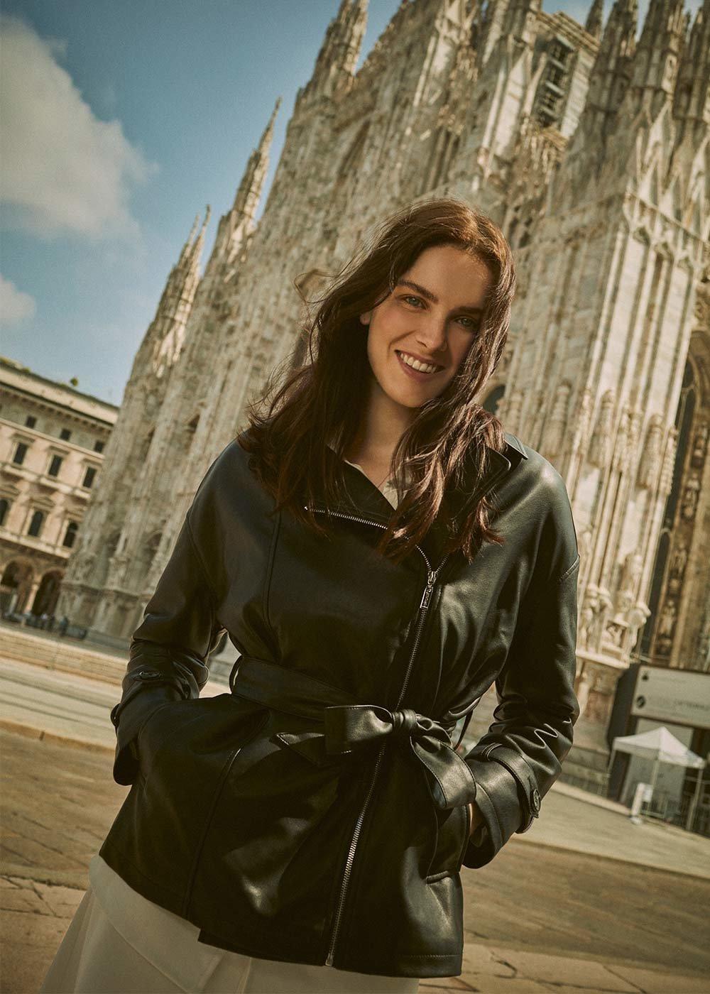 Gil faux-leather jacket - Black - Woman