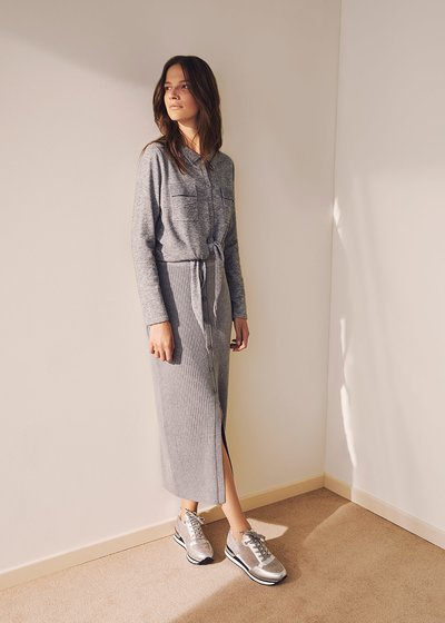 Ghia viscose knit pencil skirt