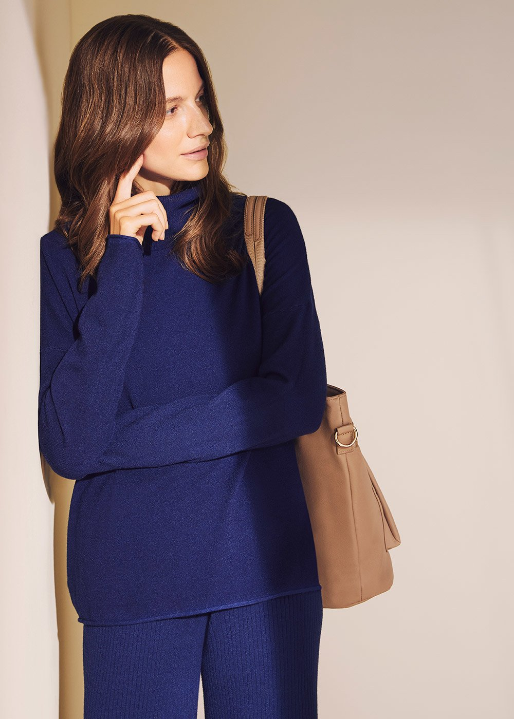 Medea chain stitch sweater - Ultramarine - Woman