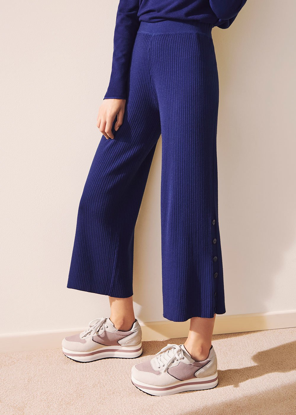 Portos knit trousers - Ultramarine - Woman