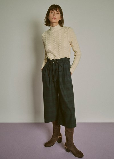 Mabel sweater with braided processing