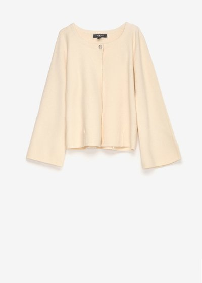 Caril cardigan with jewel button