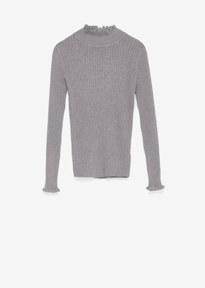 Maris sweater with ruffled neck